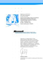 AER Microsoft Authorised Education Reseller certyfikat